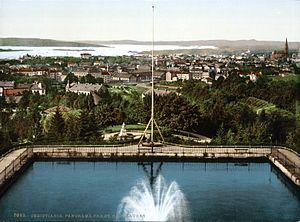 St. Hanshaugen - Image: Christiania (Oslo) Panorama fra St. Hanshaugen (1890 1900)