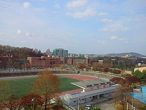 Chungbuk National University - Scenery with schoolyard of CBNU