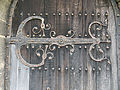 Church of St Andrew, Boothby Pagnell, Lincolnshire, England - Tower west door hinge.jpg