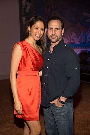 Chuti Tiu - Tiu (left) and husband Oscar Torre at the 2013 Miami International Film Festival Pyrat Awards Night Party at Freedom Tower on March 9, 2013