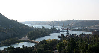 Chornaya River (Crimea) - The mouth of the Chornaya River