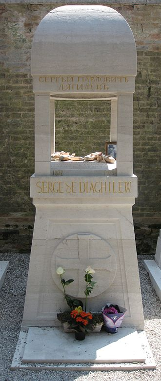 Sergei Diaghilev - Diaghilev's gravestone, Isola di San Michele, Orthodox section, Venice, Italy (April, 2011)