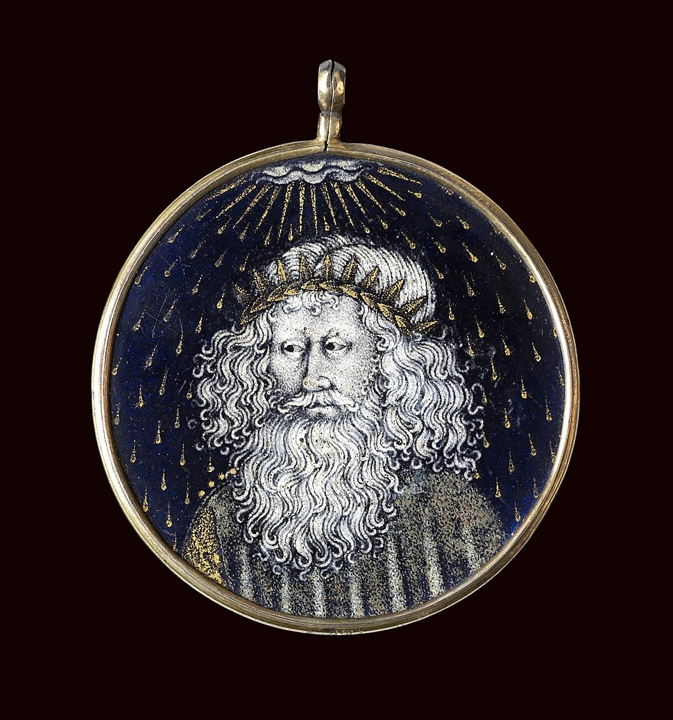 Circle of the Limbourg Brothers - Medallion with the Emperor Augustus's Vision of the Virgin and Child - Walters 44462
