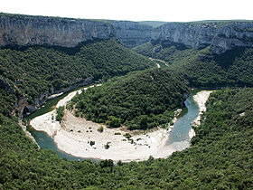 Image illustrative de l'article Réserve naturelle nationale des gorges de l'Ardèche