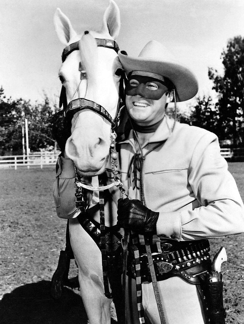 Clayton Moore Lone Ranger and Silver.JPG