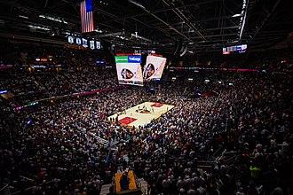 Cleveland Cavaliers - Scene of the 2017–18 season opener in Quicken Loans Arena