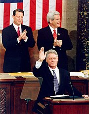 From Left to Right: Al Gore, Bill Clinton and Newt Gingrich — 1997