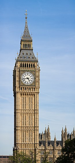 Clock Tower - Palace of Westminster, London - September 2006-2.jpg