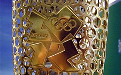 Close Up of the 2012 Logo on the Olympic Torch.jpg