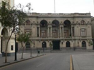 Jirón de la Unión - A view of the Club Nacional located on the ninth block of the Jiron de la Union or the Plaza San Martin