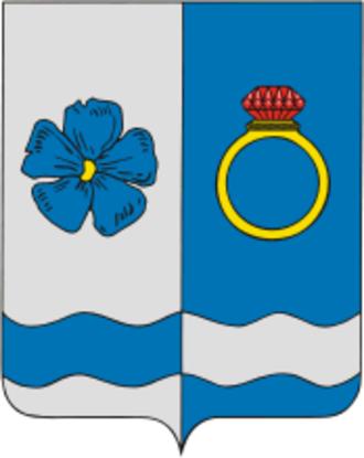 Privolzhsky District, Ivanovo Oblast - Image: Coat of Arms of Privolzhsky rayon (Ivanovo oblast)