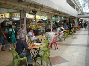 Kopi tiam - A typical open-air kopitiam in Singapore