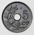 Coin BE 5c Albert I star rev NL 45bis.png
