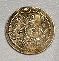 Coin of Jamasp, 497-499 CE, from Iraq, Sulaymaniyah Museum.jpg