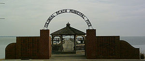 Colonial Beach, Virginia - Entrance to the Colonial Beach Municipal Pier