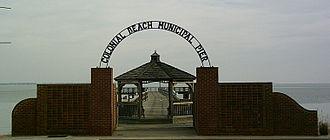 Colonial Beach, Virginia - Entrance to the Colonial Beach Municipal Pier