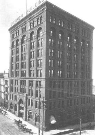 Columbia Building (Louisville, Kentucky) - The Columbia Building in 1910