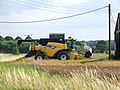 Combine Harvesting at Capnil Farms, Old Woodhall - geograph.org.uk - 559008.jpg