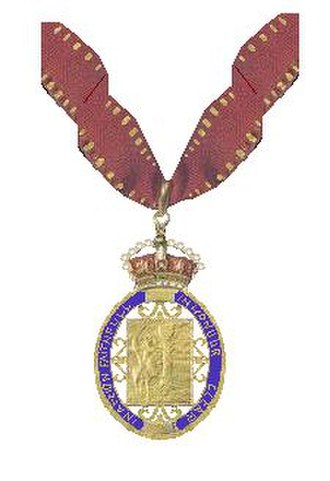 Michael Howard - Insignia of Companion of Honour, to which Howard was appointed in 2011