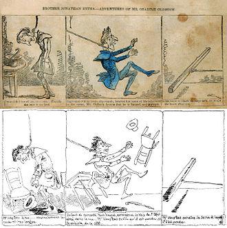 Histoire de M. Vieux Bois - Comparison between the American version and the Swiss version