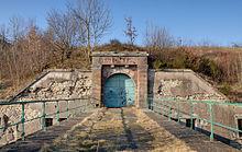photographie montrant l'entrée du fort du Salbert