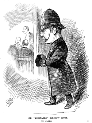 Clement Scott - Scott in the Entr'acte in 1898, when he accused Ibsen and Shaw of being harmful to society