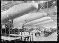 Construction of aircraft at the Glenn L. Martin plant at Baltimore, MD. Fuselages, just out of the assembly jigs are... - NARA - 520743.tif