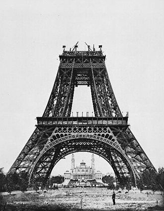 History of architecture - The Eiffel Tower being constructed (August 1887-89)