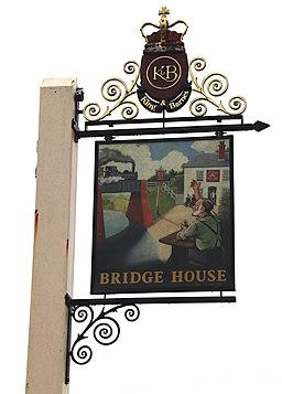 Copsale Bridge House pub sign, Copsale, Nuthurst, West Sussex, England