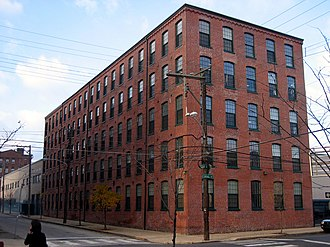 Kensington, Philadelphia - Beatty's Mills Factory Building, a historic textile mill which now houses the Coral Street Arts House.