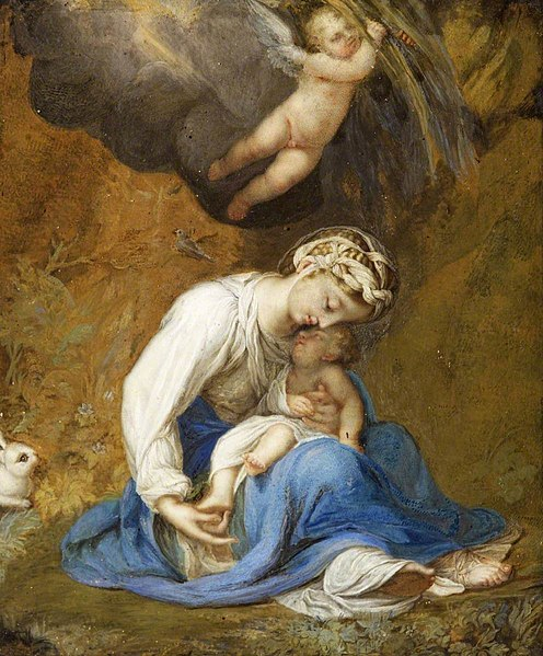 File:Correggio (c.1489-1534) (after) - La zingarella (The Madonna and Child with a Rabbit) - 732360 - National Trust.jpg
