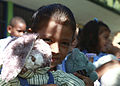 Costa Rican school children gather together after receiving stuffed animals from U.S. Marines and Sailors working with nongovernmental organization Give a Kid a Backpack at Hone Creek School in Hone Creek, Costa 100825-M-PC721-002.jpg