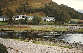 Cottages at Corran from river - geograph.org.uk - 733260.jpg