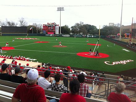 Schroeder Park, home of the Houston Cougars baseball team Cougar Field with FieldTurf.jpg