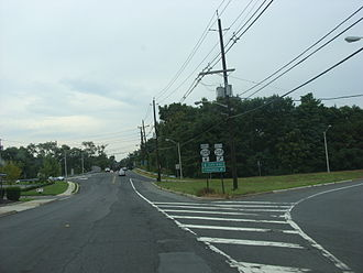 County Route 507 (New Jersey) - County Route 507 at the interchange with Route 208 in Fair Lawn