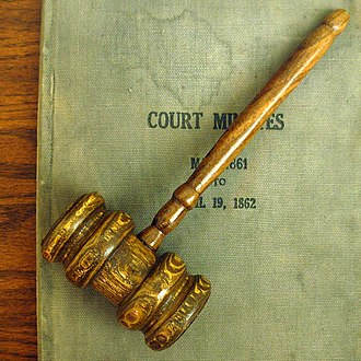 Parliamentary procedure - A gavel often symbolizes parliamentary procedure.