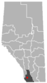 Cowley, Alberta Location.png
