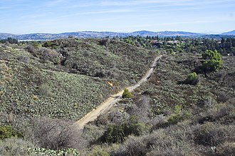 Fullerton, California - A view of West Coyote Hills in Fullerton, which is one of the last open spaces in northern Orange County