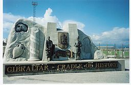 Cradle of History monument, Gibraltar (1997)