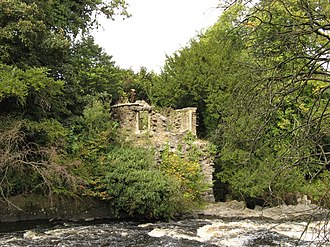 Craigiehall - Ruins of the grotto and bath house, by the River Almond