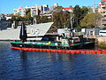 Crane stores lighter Boronia at FBE in September 2012.JPG