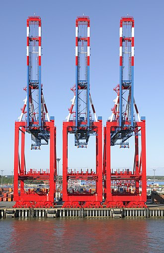 Container crane - Cranes in the Port of Bremerhaven.