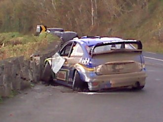 Rally Ireland - Marcus Grönholm crashes out at Lough Gill, County Sligo, 2007