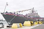 Crew of USS Wichita (LCS-13) bring ship to life during commissioning ceremony US Navy 190112-N-DA434-199.jpg