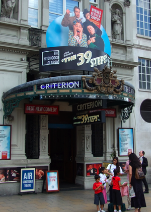 The 39 Steps (play) - The 39 Steps played for 9 years (2006–2015) at the Criterion Theatre in London's West End.