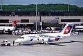 Crossair Avro RJ 85; HB-IXG@ZRH;06.05.1995 (4906382270).jpg