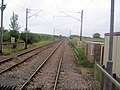 Crossing railway line at Lucker - geograph.org.uk - 1394100.jpg