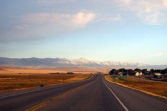 Alberta Highway 3 - The Crowsnest Highway near Cowley