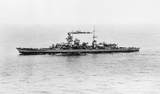 German cruiser Prinz Eugen - Prinz Eugen under escort from Copenhagen to Wilhelmshaven after surrendering