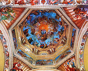 Abbey of St Maria del Monte - Frescos of Dome of Abbey of St Maria del Monte.